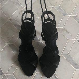 Zara tie up heels